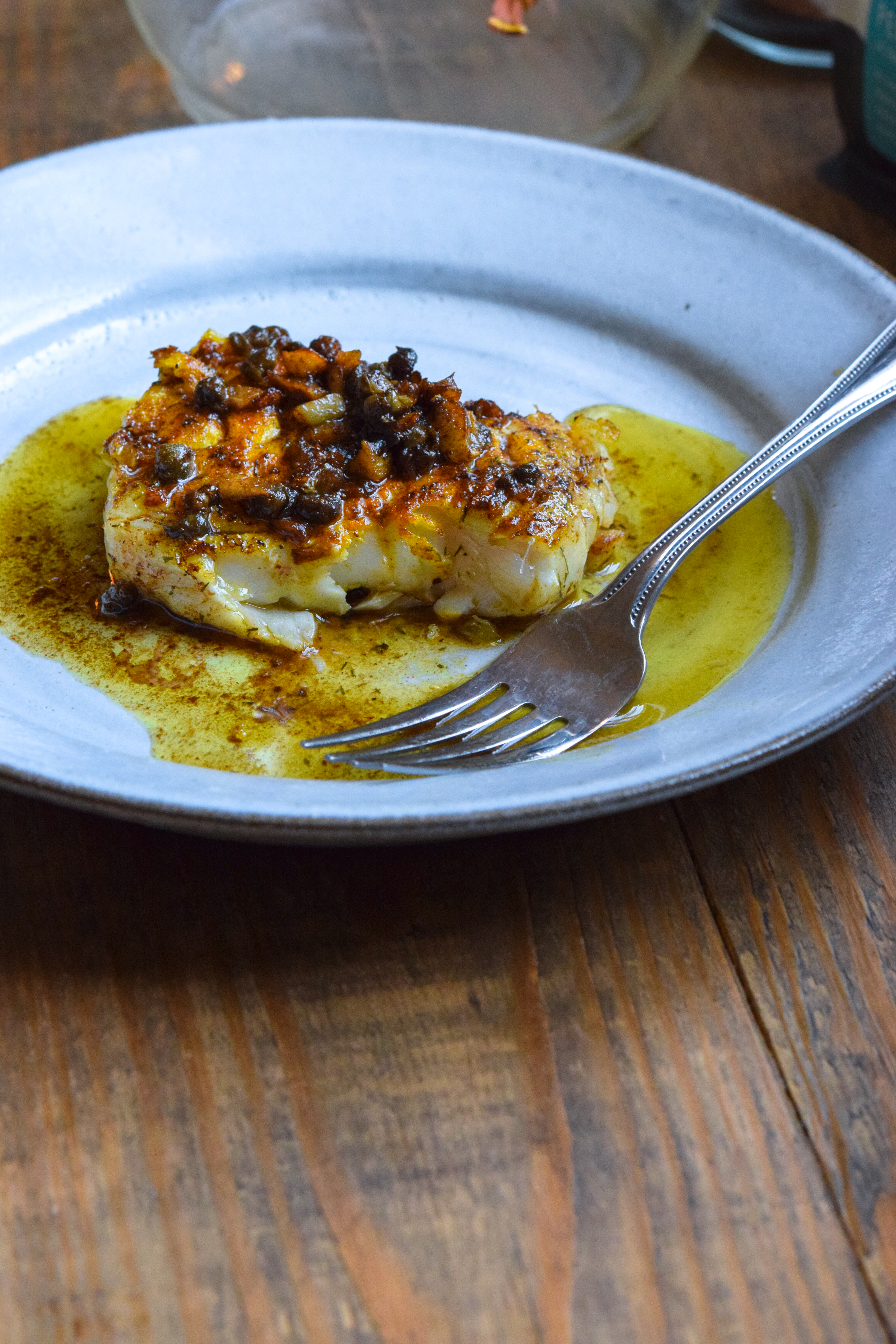 Cod with Caper Brown Butter