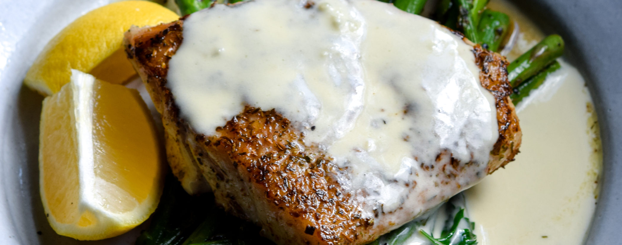 Red Snapper with Lemon Cream Sauce